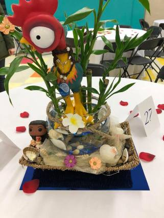 Father daughter centerpiece