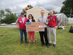 Pictures of MMS receiving the grant with Amanda Ripa and Mark