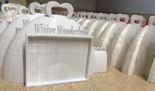 3D printed Winter Wonderland Frame Ornaments