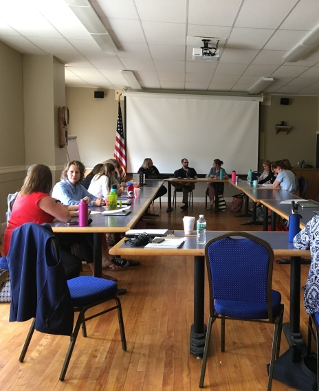 Conversation with teachers from the district.