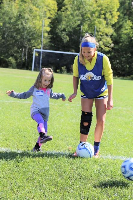 Lillyane Dyer and MHS Soccer Player Lydia Bradfield